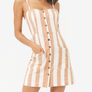 Pink and white striped forever 21 dress